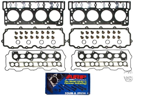 ARP Head Studs & Ford OEM Head Gaskets, 6.0 Complete Head Set 18mm Package B