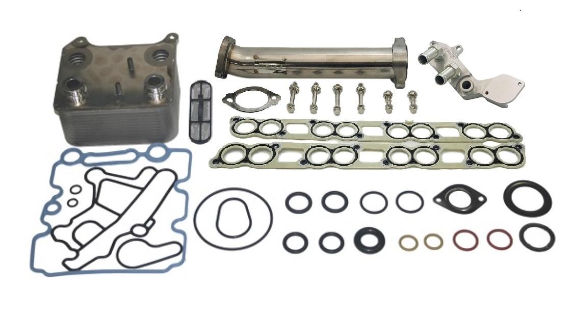 IPR GEN3 EGR Delete Kit with Up Pipe, Ford OEM Oil Cooler