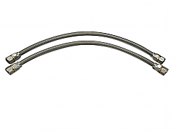 """IPR Stainless Braided Hose Teflon Lined Pair of 2 Hoses 34"""" and 36"""" Long 6.0 EOC Kit"""