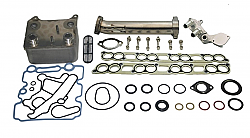 IPR GEN3 EGR Delete Kit, Ford OEM Oil Cooler & Gaskets for all 2005-2007 Ford Powerstroke 6.0 will fit F250, F350, F450